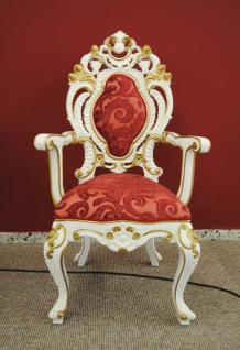 Wunderschöner Barock Stuhl Mahagoni König Ludwig XIV white gold