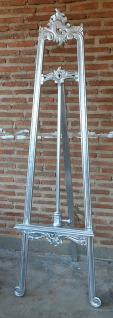 Stylishe Staffelei Mahagoni Farbe Shiny Silber - Vorschau
