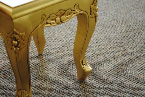 Chippendale Tisch Beistelltisch Konsole massiv Mahagoni Farbe Gold - Vorschau 2