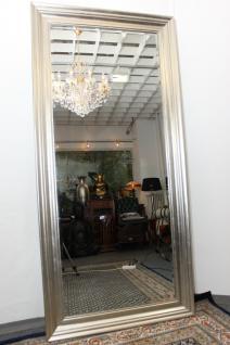 Grosser Spiegel Wandspiegel Farbe Shiny Silver mit Facettenschliff 90x190 cm