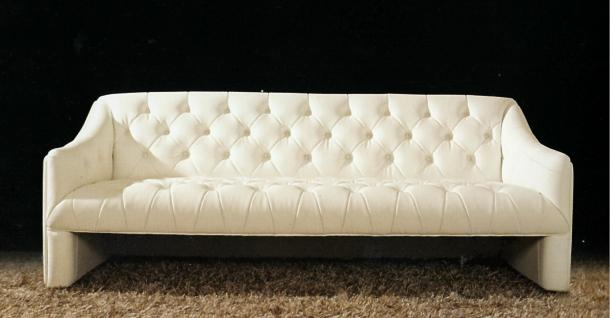 Leder Couch / Designer Couch 3 er italy Leather