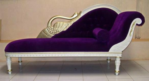 The Recamiere of Princess Ottomane Mahagoni Couch