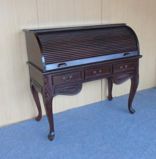 Englischer Chippendale Sekretär Schreibtisch Mahagoni Farbe dunkelbraun Walnuss