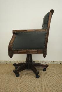 Traumhafter Bürosessel Chefsessel aus massivem Mahagoni - Vorschau 2