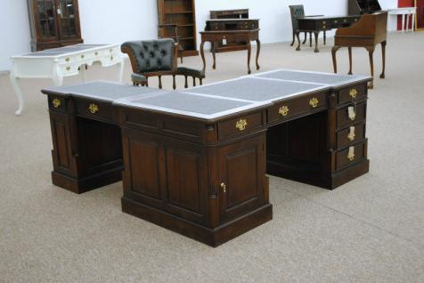 Empire Sekretär Schreibtisch Partner Desk Doppel Partner Desk Mahagoni - Vorschau 2