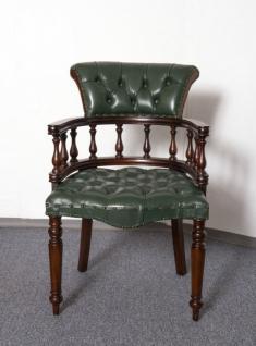 Traumhafter Stuhl Bürostuhl Bürosessel Chefsessel massiv Mahagoni brown Walnuss - Vorschau 1