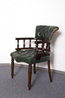 Traumhafter Stuhl Bürostuhl Bürosessel Chefsessel massiv Mahagoni brown Walnuss - Vorschau 2