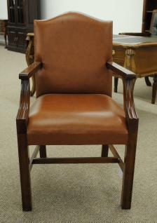 Wunderschöner Sessel mit Armlehne, Mahagoni, Leder brown