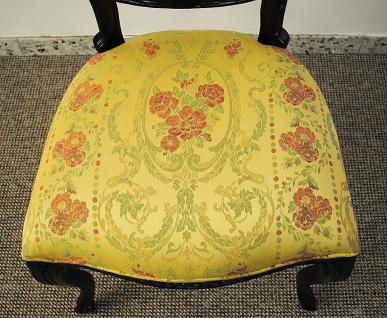 dekorativer stuhl holz massiv mahagoni brown walnuss bezug. Black Bedroom Furniture Sets. Home Design Ideas