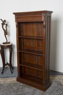 Englisches Buchregal Bücherschrank Bücherregal Regal Mahagoni 180 x 85 cm Premium Qualität