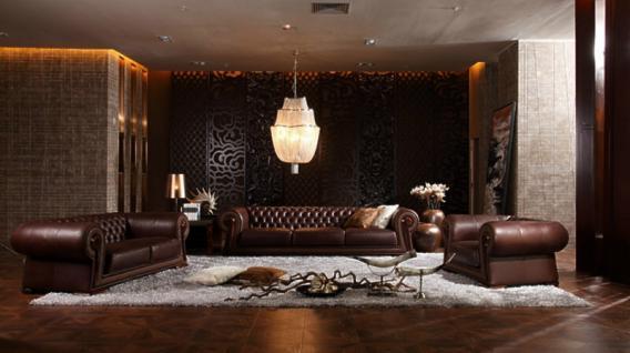 Designersofa Sofa Couch 3-Sitzer hochwertiges italienisches Leder