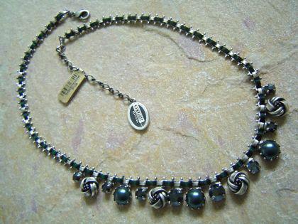 KONPLOTT Kette Collier La Comtesse blue ant.silver - Vorschau