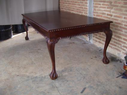 Esstisch Speisetisch Tisch Mahagonitisch dunkelbraun Walnuss - Vorschau