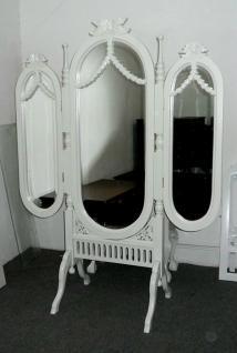 Grosser Spiegel Standspiegel Ankleidespiegel 3 Spiegelflächen Mahagoni - Vorschau