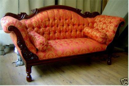 Wunderschöne Couch Recamiere Ottomane Mahagoni - Vorschau 1