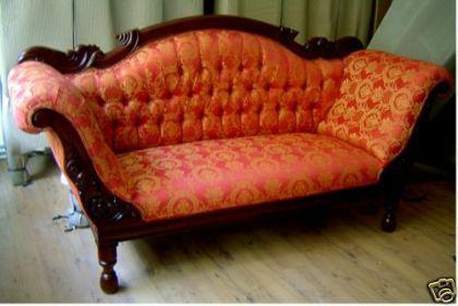 Wunderschöne Couch Recamiere Ottomane Mahagoni - Vorschau 2