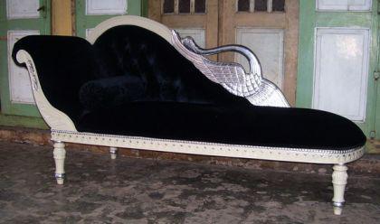 Edle Couch Recamiere Ottomane Mahagoni - Vorschau