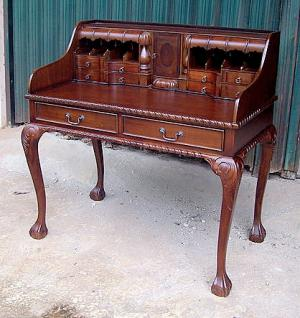 Englischer Sekretär Schreibtisch Mahagoni Farbe brown walnut