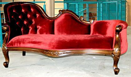 Traumhafte Couch Recamiere Ottomane Mahagoni - Vorschau