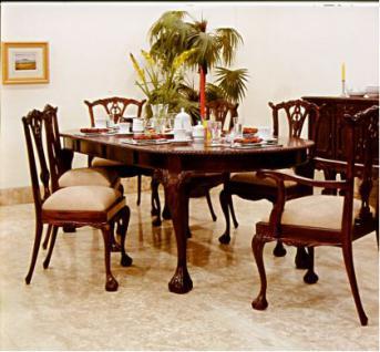esszimmer lois stil mahagoni 6 st hle tisch 300 cm kaufen bei manfred kiep einzelhandel. Black Bedroom Furniture Sets. Home Design Ideas