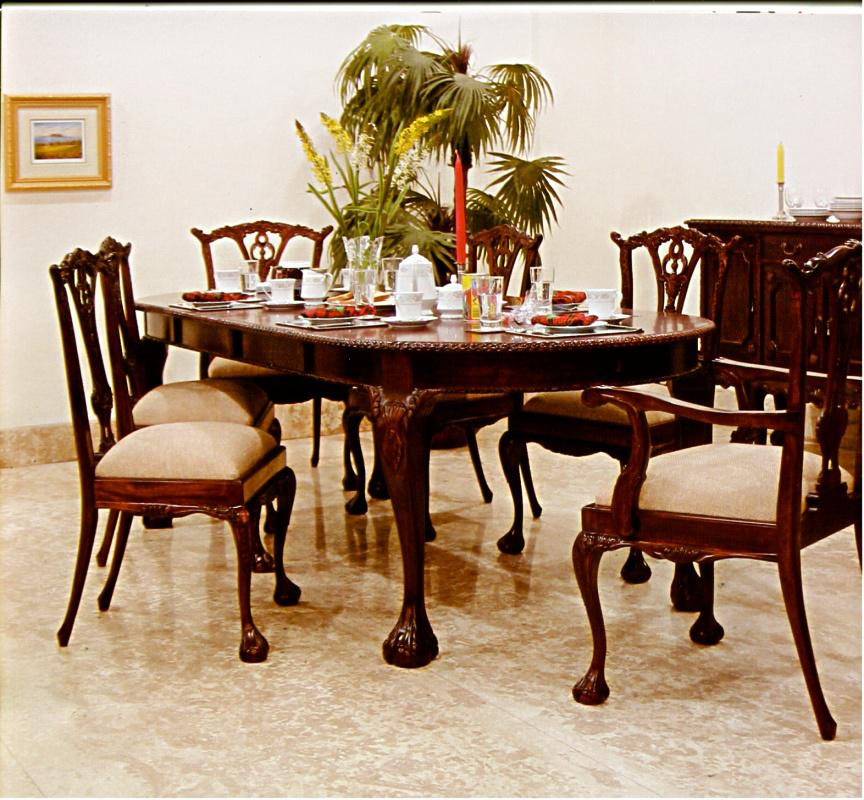 chippendale tisch esstisch mahagoni verstellbar 300 cm. Black Bedroom Furniture Sets. Home Design Ideas