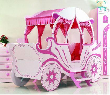 bett kutsche pink kinderbett m dchen und prinzessin. Black Bedroom Furniture Sets. Home Design Ideas
