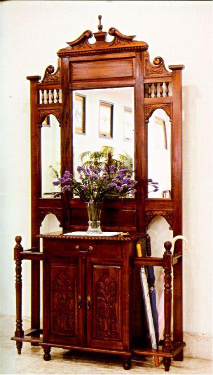 vintage look flurgarderobe massiv mahagoni kaufen bei manfred kiep einzelhandel. Black Bedroom Furniture Sets. Home Design Ideas