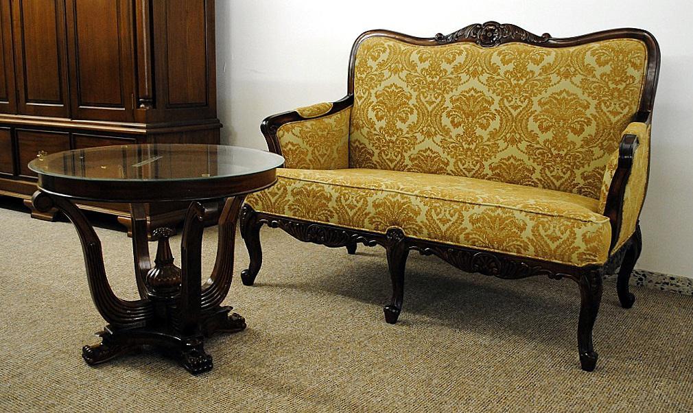 Franz sisches sofa couch 2 sitzer mahagoni kaufen bei for Couch 2 sitzer