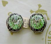 KONPLOTT Ohrclips Captured light green / antique silver