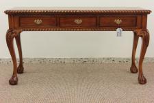 Englischer Chippendale Schreibtisch Konsole Mahagoni light brown walnuss