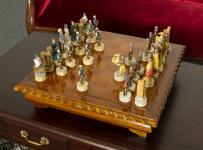 Schachtisch Spieltisch Spielbrett Schachbrett Mahagoni NEU