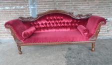 Genießen Sie die gute alte Zeit mit dieser Ottomane Couch Recamiere Mahagoni