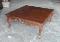 Tisch Couchtisch Mahagoni Kolonialstil Farbe Mahagoni red