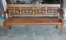 Bank Gartenbank Holz Foyerbank Mahagoni handgefertigt Farbe braun Walnuss