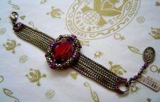 Armband Konplott Eye of the Cobra red antique bronce