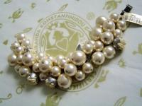 KONPLOTT Armband Bubble Pearls champagne antique silver