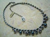 KONPLOTT Kette Collier La Comtesse blue ant.silver