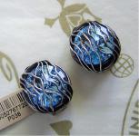 KONPLOTT Ohrclips Captured light blue / antique silver