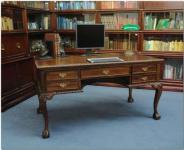 Chippendale Schreibtisch Sekretär Mahagoni Premium Qualität