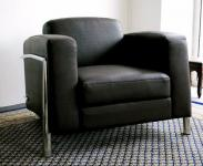 Leder Sessel / Designer Sessel Lounge Office Verona Leather