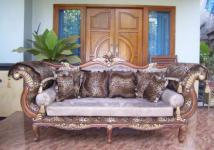 "Wunderschönes Sofa Couch Recamiere Ottomane Mahagoni ""Hunter"""