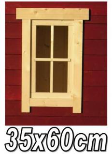 EFE 35x60 4+6FE RA1 Gartenhausfenster, Carportfenster 35 x 60 cm feststehend mit Abdeckrahmen