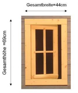 Gartenhausfenster 44 x 69 cm zum Öffnen Dreh-, Kipp - Vorschau 2