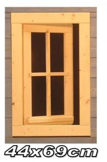 Gartenhausfenster 44 x 69 cm zum Öffnen Dreh-, Kipp