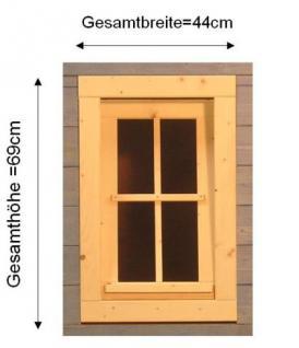 Gartenhausfenster, Carportfenster 44 x 69 cm zum Öffnen Kippfenster - Vorschau 2