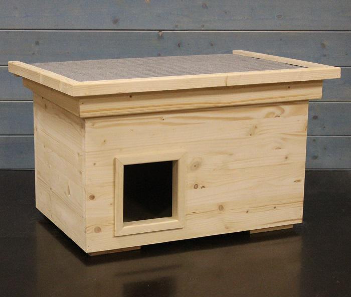 katzenhaus voll isoliert 60x40cm kaufen bei jp holzdesign. Black Bedroom Furniture Sets. Home Design Ideas
