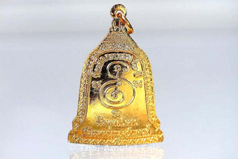 Thai Amulett vom ehrwürdigen Luang Pho Mettavihari - Rian Rakhang Nuea Thong Lueang Longya Sii Lueang Ruun Kroop Roop 60 Pii des ehrwürdigen Luang Pho Thiraphan Mettavihari (Phra Khru Kraisorn Virat), Wat Phutta Viharn (auch Wat Buddhavihara), Amsterdam. - Vorschau 4