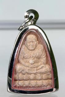 Von 7 Mönchen geweihtes Luang Phu Thuad Thai Amulett des ehrwürdigen Ajahn Weerapong Sae Tia, Kroong Kram Potichit, Wittayu Road, Khaeng Lumpini, Khaet Pathum Wan, Bangkok, Thailand aus dem Jahr BE 2546 (2007). Für Gesundheit, Glück und Wohlstand. - Vorschau 1