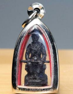 König Taksin Thai Amulett von 11 Mönchen geweiht - Vorschau 3