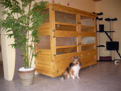 hasenstall kaninchenstall jean luc kaufen bei ronalds holzladen. Black Bedroom Furniture Sets. Home Design Ideas